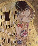 Gustav Klimt (The Kiss, Le Baiser, Detail) Art Poster Print Masterprint