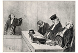 "Honoré Daumier (The plea: "".. because the judiciary always keep your eyes open .."") Art Poster Prin Photo"