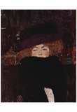 Gustav Klimt (Lady with Hat and Feather Boa) Art Poster Print Posters