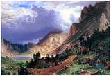 Albert Bierstadt Storm in the Rockies Mt. Rosalie Art Print Poster Prints