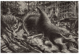 Umberto Boccioni (The city rises) Art Poster Print Posters
