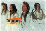 Albert Bierstadt Four Indians Art Print Poster Poster