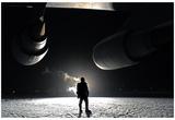 C-5M Super Galaxy (On Tarmac, At Night) Art Poster Print Posters