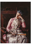 Thomas Eakins (Portrait of Amelia Van Buren) Art Poster Print Photo