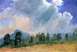 Albert Bierstadt Fir Trees and Storm Clouds Art Print Poster Masterprint