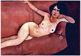 Amadeo Modigliani Nude on a Sofa Almaiisa Art Print Poster Prints