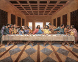Black Last Supper Art Print Poster religious Jesus GOD Prints