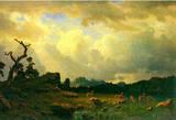 Albert Bierstadt Thunderstorms in the Rocky Mountains Art Print Poster Masterprint