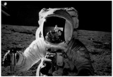 Astronaut on the Moon Archival Photo Poster Print