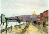 Childe Hassam Charles River and Beacon Hill Art Print Poster Posters