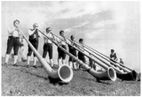 Alp Horn Blowers Archival Photo Poster Prints