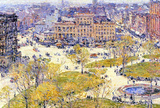 Childe Hassam Union Square in Spring Art Print Poster Masterprint