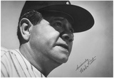 Babe Ruth Face Archival Photo Poster Print Prints