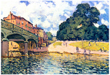 Alfred Sisley Bridge of Hampton Court Art Print Poster Prints