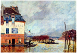 Alfred Sisley Flood at Port Marly 2 Art Print Poster Photo
