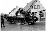 Army Tank Near Rhine River Archival Photo Poster Prints