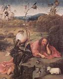 Hieronymus Bosch (Meditators St. John the Baptist) Art Poster Print Masterprint