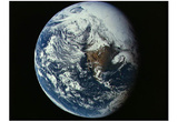 Earth (View from Space) Art Poster Print Prints