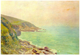 Alfred Sisley Welsh Coast in the Fog Art Print Poster Posters