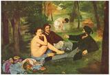 Edouard Manet (Breakfast) Art Poster Print Poster