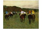 Edgar Germain Hilaire Degas (Racehorses in Longchamp) Art Poster Print Prints