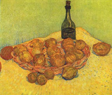 Vincent Van Gogh (Still Life with Bottle, Lemons and oranges) Art Poster Print Masterprint