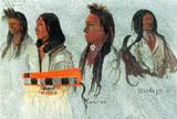 Albert Bierstadt Four Indians Art Print Poster Masterprint