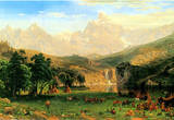 Albert Bierstadt Rocky Montains at Lander's Peak Art Print Poster Masterprint