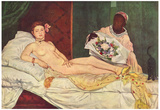 Edouard Manet (Olympia) Art Poster Print Prints