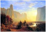 Albert Bierstadt Yosemite Valley Sun Rise Art Print Poster Posters