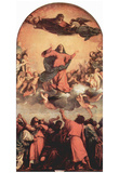 Tizian (Assumption, the high altar of Sta. Maria Gloriosa in Venice the Fari) Art Poster Print Print