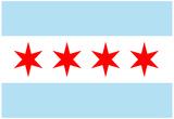 Chicago City Flag Poster Print Affiche