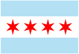 Chicago City Flag Poster Print Print