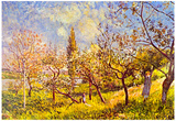 Alfred Sisley An Orchard in Spring Art Print Poster Posters