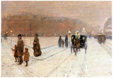 Childe Hassam An Urban Fairy Tale Land Art Print Poster Posters
