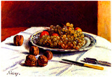 Alfred Sisley Still Life of Grapes and Nuts Art Print Poster Posters