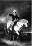 George Washington (Receiving a Salute on the Field of Trenton) Art Poster Print Posters