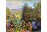 Claude Monet (Corner of the Garden at Montgeron) Art Poster Print Obrazy