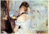 Berthe Morisot Lady in the Toilet Impressionist Art Print Poster Prints