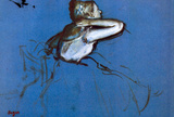 Edgar Degas Sitting Dancer in Profile with Hand on her Neck Art Print Poster Masterprint