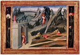 Giovanni di Paolo (The St. John the Baptist is in the desert) Art Poster Print Prints