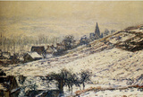 Claude Monet Winter at Giverny 1885 Art Print Poster Masterprint