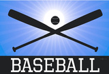 Baseball Blue Sports Poster Print Masterprint