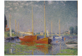 Claude Monet (Red Boats at Argenteuil) Art Poster Print Prints