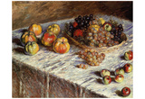 Claude Monet (Still Life with Apples and Grapes) Art Poster Print Prints