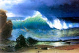 Albert Bierstadt The Coast of the Turquoise Sea Art Print Poster Masterprint