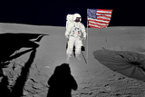 NASA Astronaut Spacewalk Moon Photo Poster Print Masterprint