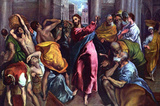 El Greco Christ Drives the Dealers from the Temple Art Print Poster Masterprint