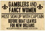 Gamblers and Fancy Women Sign Up Vintage New Orleans Poster Print