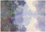 Claude Monet The Seine at Giverny Morning Mist Art Print Poster Photo